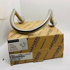 Kartners 144462-81 Oslo Towel Ring - Brushed Nickel Finish - Brass Construction