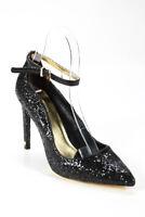 Ted Baker London Womens Pointed Toe Glitter Heels Black Size 39 8