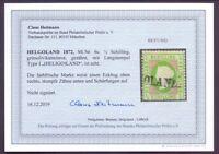 Helgoland 1871 - MiNr 6 c gestempelt geprüft Foto-Befund - Michel 320,00 € (752)