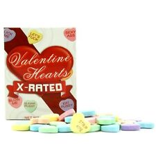 X-rated Valentines Day Candy Hearts 1.6 oz box Funny Messages Love Romance Sex