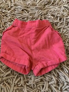 Girls Pink Cord Shorts 2-3 Years
