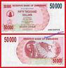 ZIMBABWE 50000 Dollars dolares 2007 Pick 45  SC / UNC