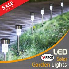 10Pcs Solar Led Lights Pathway Set Outdoor Path Light Yard Garden Walkway Lamp