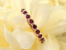 Half Eternity Ruby Wedding Ring.AAA Quality RubyBand.Women's Bezel Set Ruby Ring