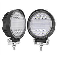 4inch 72W Round LED WORK LIGHT BAR Spot Lamp Off Road Driving Fog Lights 12V/24V