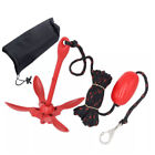 Boat Galvanized Folding Anchor Buoy Kit Portable Complete Grapnel Anchor System