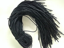 Par De Jl Golf Negro cordones Encerados 90cm X 2,5 Mm Redondo, Cable De Botas Zapatos de formadores