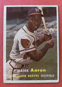 1957 TOPPS HANK AARON #20 VG++ PSA READY NO CREASES NICE! Original/Unaltered