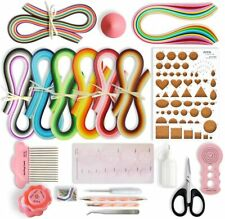 New listing Nice Quilling Kit Paper Filigree Complete Tools Paper Strips Colorful Embossing