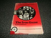 Book. The Iron Game. Webster. Illustrated History of Weightlifting Strongman 1st