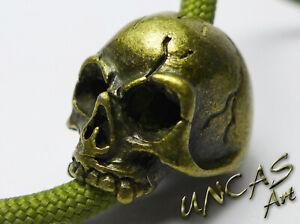 Skull Totenkopf Bronze Beads Zubehör für Paracord Lanyard Keychains Messer