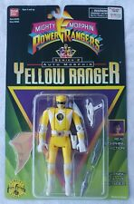 "Mighty Morphin Power Rangers Series 2  Auto Morphin 5"" Yellow Aisha Flip Head"