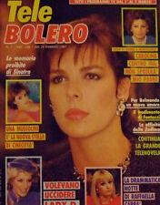 TELE BOLERO 7/87 SYLVIE VARTAN JOHNNY HALLYDAY RAFFAELLA CARRA' CAROLINE MONACO