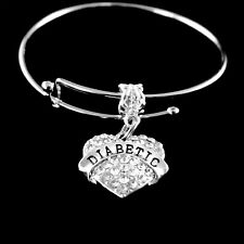 Diabetic bracelet medical charm bracelet Diabetes Bracelet medical awareness