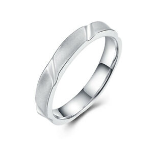 Solid 14K White Gold Ring Settings Only Jewelry Luxurious Antique Simple Wedding