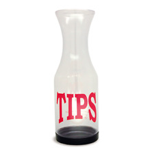 Co-Rect Products TJ001TIPS Tip Jar, Clear Plastic,