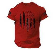 USA Distressed Flag T Shirt American Patriotic Tee