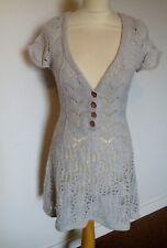 WHITE STUFF lambswool jumper dress/tunic. 12. Light grey. Lovely style. Vgc