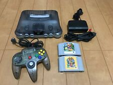Nintendo 64 Console Clear Black Color Limited Edition