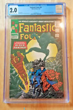FANTASTIC FOUR #52 1ST APPEARANCE BLACK PANTHER *CGC 2.0 CREAM TO OW PAGES*