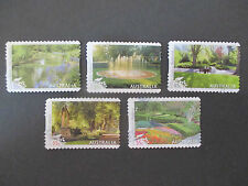 No-39-2009--PARKS  & GARDENS  -P/S-  5  STAMPS-LIGHTLY  CANCELLED-F/S --A1