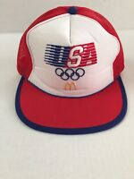 Vintage 1984 Olympics McDonalds USA Advertising Mesh Snapback Hat Cap