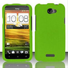 For AT&T HTC ONE X Rubberized HARD Protector Case Snap On Phone Cover Neon Green