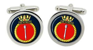 HMS Truncheon, Royal Navy Cufflinks in Box