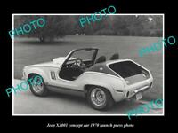 OLD 8x6 HISTORIC PHOTO OF JEEP XJ001 CONCEPT CAR LAUNCH PRESS PHOTO 1970
