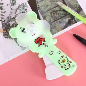 1Pcs Portable Cartoon Mini Hand Pressure Fan Manual Fan Summer Cooling Small Fan