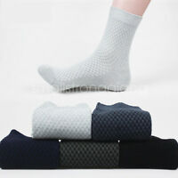 5/10 pairs Classic Men's Bamboo Fiber Solid Casual Sports Soft Comfort Socks