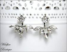 Flower Earring Jackets Back to Front Earrings Ear Cuff Silver, Gold, & Rose Gold