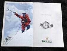Original 2015 Rolex Oyster Perpetual Explorer II Watch Print Ad