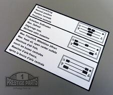 RESTAURO ADESIVO PER 911 911SC 911 Turbo 930-Controllo Del Riscaldatore Decalcomania