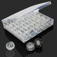 Good Bobbin Sewing Machine Plastic Spools + Clear Box For Thread Brother Singer