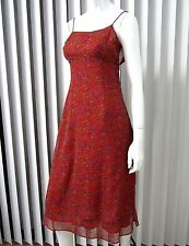FREE PEOPLE SPAGHETTI STRAP Sun Lace DRESS SIZE Junior 5 RED PAISLEY Vintage