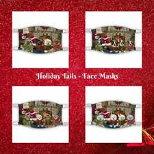 Christmas Fire Holiday Tails Dog Cat Pet Photo Face Masks, Personalized Custom