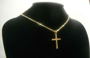 Goldene Halskette Kreuz Geschenk Verpackt