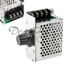 4000W 220V AC SCR Electric Voltage Regulator Dimmer Motor Speed Controller+Case