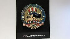 Disney 2002 Mickey Mouse is Wearing Uncle Sam Hat Patriotic President's Day Pin