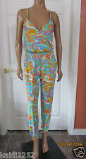 Trina Turk COSMOS Swimsuit Cover Up Jumpsuit Size M ~NWT~ $154