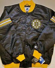 Boston Bruins Mens NWT Starter Satin Retro Jacket Coat by Glll Carl Banks 2XL
