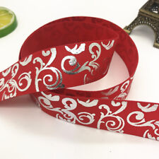 1/5/10/50yards 20mm 25mm Size print hot silver Grosgrain Bow Ribbon Hair Sewing