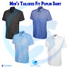 Uneek Mens Tailored Fit Short Sleeve Casual Poplin Shirt Dress Work Formal wear