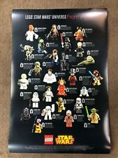 STAR WARS LEGO Minifig poster Toy Fair 2015 Press Kit - very rare