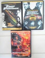 Fast and the Furious 2 Fast 2 Furious Xxx 3 Dvd movie set Vin Diesel Paul Walker