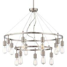Minka Lavery 1137-84 Downtown Edison 15-Light 2-Tier Chandelier - Brushed Nickel