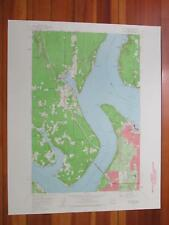 Gig Harbor Washington 1960 Original Vintage USGS Topo Map