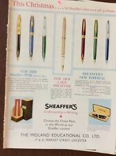 A2t Ephemera 1961 Advert Leicester May Sheaffer's Fountain Pens Pfm Imperial