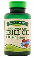 Natures Truth 100% Pure Red Krill Oil 1000mg Omega 3 Capsules 60 Each